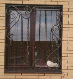 Решетки на окна,  перила, навесы, художественная к