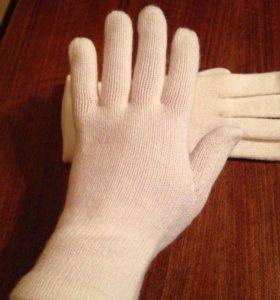 Перчатки новые белые