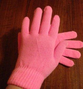 Новые розовые перчатки