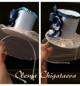 Ободок шляпка- цилиндр