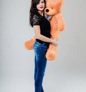 Плюшевый медведь мишка 80см