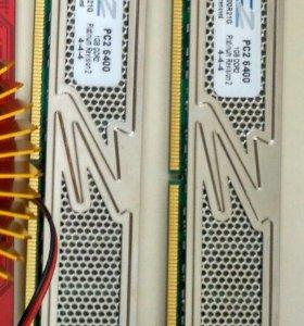 Память OCZ DDR2 PC-6400 2 по 1 Гб