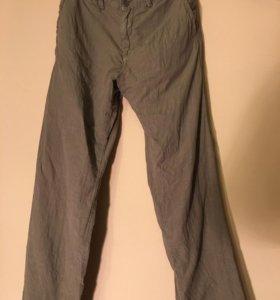 Benetton брюки льняные новые мужские!