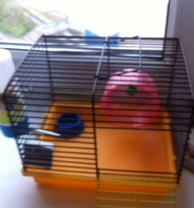 Клетка для хомячка+шарик для бега