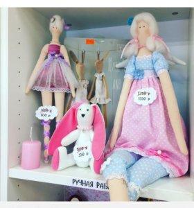 Тильда куклы и зайка