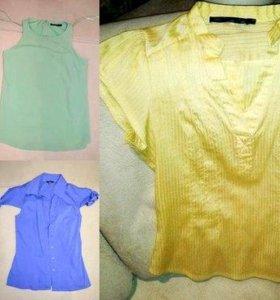 Блузки и рубашки р.42 - 5 шт.