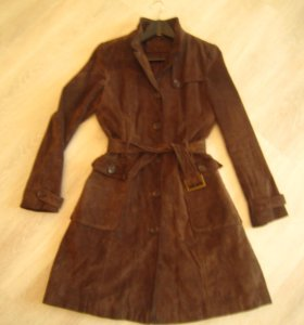 Пальто/ плащ натуральная замша