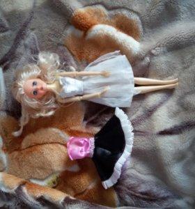 Кукла барби и платье