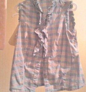 Клечатая рубашка безрукавка красивая