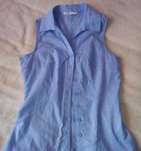 Рубашка голубая хлопок