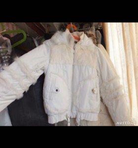 Куртка женская демисезонная из натурального меха