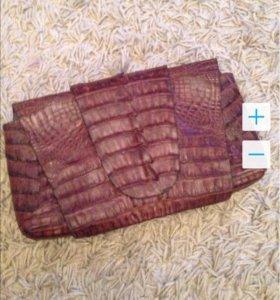 Сумка (клатч) из кожи крокодила