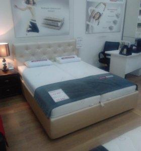 """Кровать """"Калифорния"""" с ПМ 200*160 + страза"""