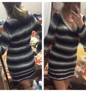 Платье тёплое зимнее