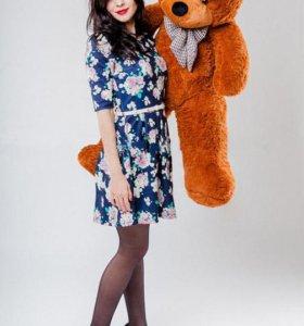 Плюшевый медведь мишка 120см