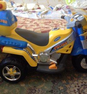 Детский мотоцикл ,электропривод.