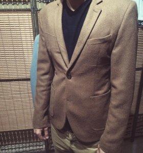 Твидовый зауженный пиджак