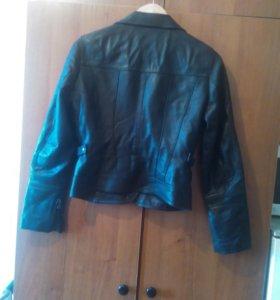 Кожаная куртка-пиджак, р-р S