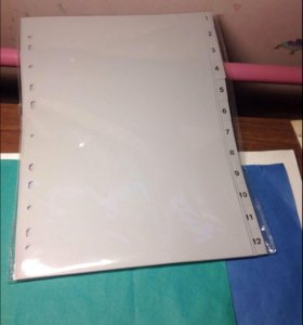 Разделитель пластиковый для папок А4