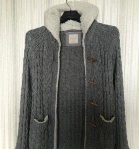 Тёплая кофта Zara с капюшоном