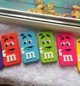"""Чехлы """"Яркий m&m's"""" на iPhone 4/4s. В наличии."""