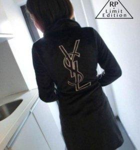 Мягчайший халат с лого YSL