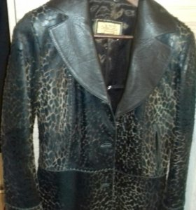 Кожаный пиджак утепленный