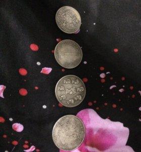 Копии монет( посеребрённые )