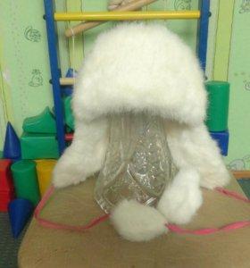 Шапка зимняя на меху, на возраст 4-6 лет