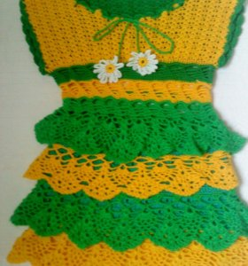 платье ручная работа от1 до 2лет т.89032139840