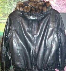 Кожаная куртка натуральная.