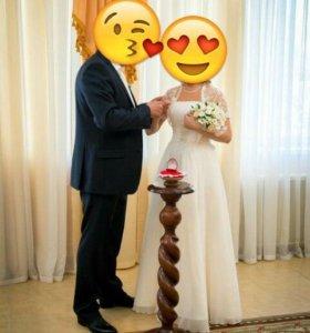 Свадебное платье+болеро+туфли !! Почти даром!!!!