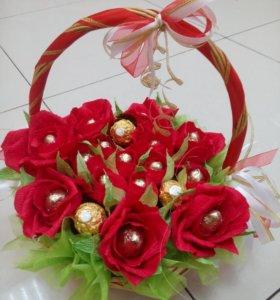 Корзинка Сладкие розы