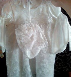 Платье-крестильный набор р-р до 74