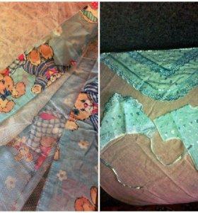 Балдахин на кроватку+набор для выписки(без одеяла)