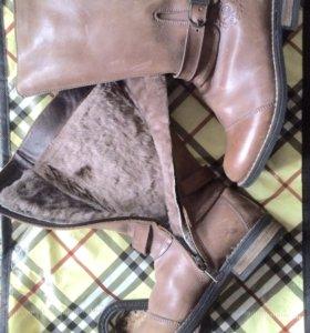 Детские зимние кожаные сапоги Rondinella Италия