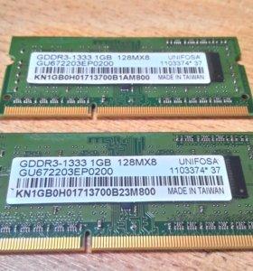 Оперативная Память 1 GB gddr3-1333 128MX8 unifosa