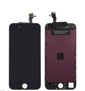 Чёрный дисплей iPhone 6 в сборе