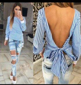 Блузка (рубашка) с открытой спиной