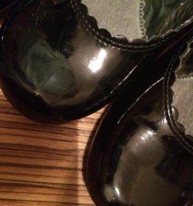 Детские туфли кожаные праздничные