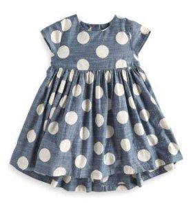 Стильное платье Next, новое, 2-4 года