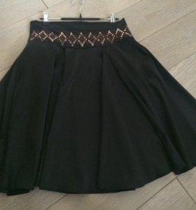 Коричневая юбка б/у р-р 42