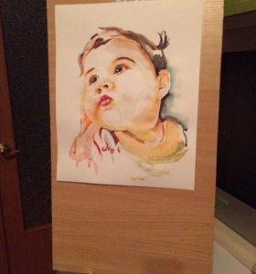 рисую портреты по фото на заказ