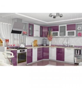 МОДУЛЬНАЯ Кухня угловая OLI белый+сирень