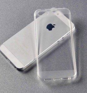 Прозрачный силиконовый чехол на iPhone 5/5S