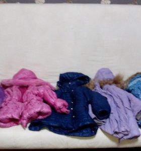 Куртки на девочку от 4 до 8 лет