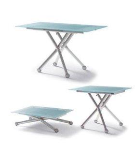 Продам стеклянный стол трансформер б/у