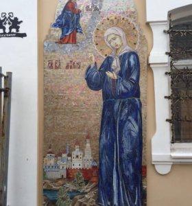 Мозаика из стекла Тиффани