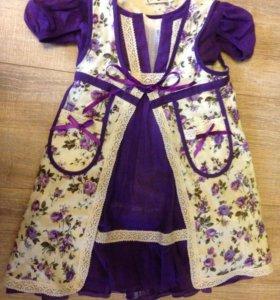 Платье с подъюбником, 86 рр, на 1 год .