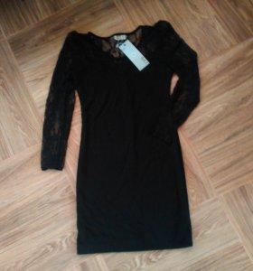 Чёрное платье (ажурное)